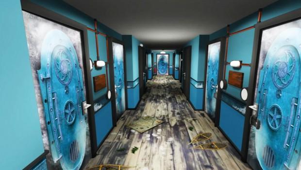 Alton Towers Antarktis Zimmer Artwork Flur