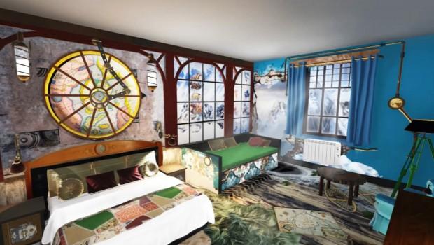 Alton Towers Antarktis Zimmer Artwork Zimmer Neu 2017