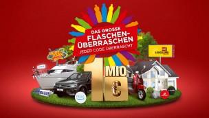"""""""Flaschen-Überraschen"""" 2017 mit Codes für Freizeitpark-Gutscheine auf Coca-Cola, Fanta, Sprite, Vio und Co."""