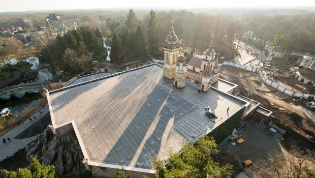 Dach Symbolica Baustelle in Efteling