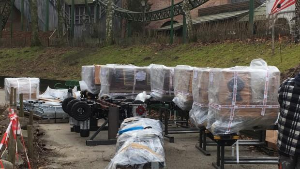 Der kleine Zar Baustelle Ankunft Hansa-Park Achterbahn 2017 1
