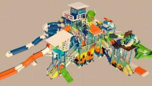 Dolfinarium Harderwijk Wasserpark Konzeptgrafik
