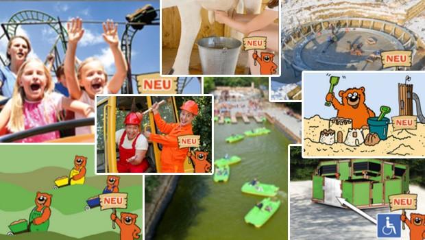 Eifelpark Gondorf Neuheiten 2017 Collage