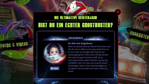 Ghostbusters Heide Park Charaktertest