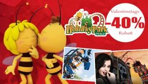 Valentinstags-Angebot 2017 vom Holiday Park: 40% Rabatt auf Eintrittskarten