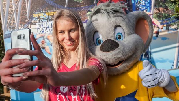 Julia Roller Coaster Girl 2017 im Europa-Park mit Euromaus