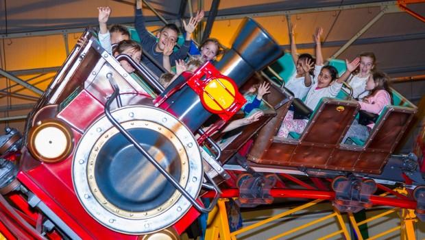 Achterbahn in Kinderstad Heerlen