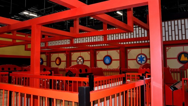 LEGO Ninjago The Ride in LEGOLAND Deutschland - Baustelle - Station