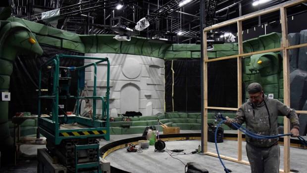 LEGO Ninjago The Ride in LEGOLAND Deutschland - Baustelle - Szenenaufbau