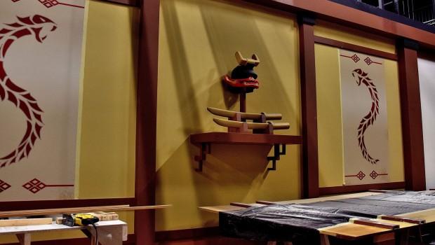 LEGO Ninjago The Ride in LEGOLAND Deutschland - Baustelle - Dekorationen
