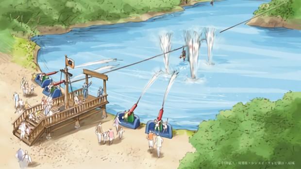 Nijigen No Mori Zipline Wasserattraktionen