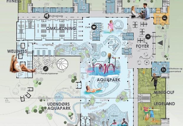Nordic Water Universe Freizeitpark Plan