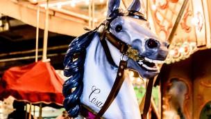 Pferdekarussel in Jahrhunderthalle