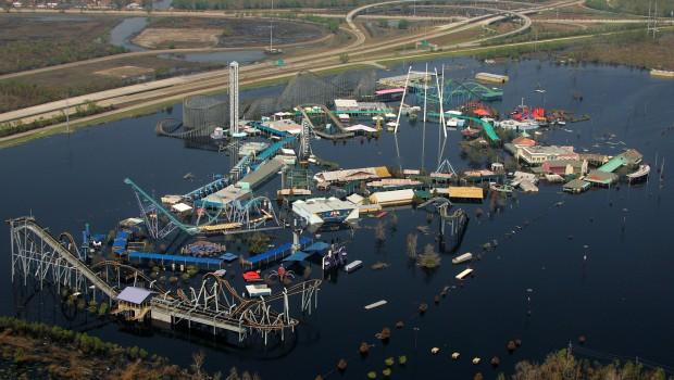 Six Flags New orleans - Hurricane Überschwemmung