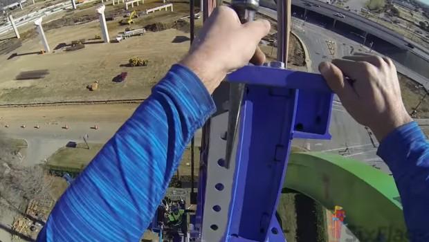 Six Flags Over Texas Schienenschluss POV