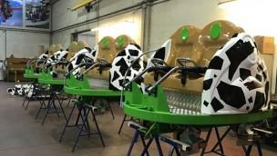 """Hier fährt """"Kids Spin"""": Die neue Kinderachterbahn des Skyline Park macht Testfahrten"""