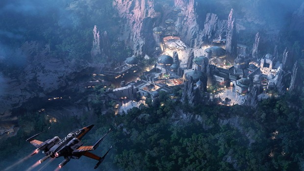 Star Wars Freizeitparks Disney Konzeptgrafik