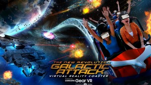 The New Revolution Galactic Attack Six Flags VR Coaster in Magic Kingdom