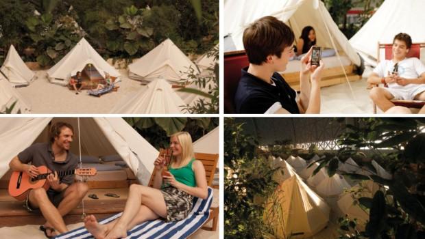 Tropical Islands Camp Zelte Atmosphäre