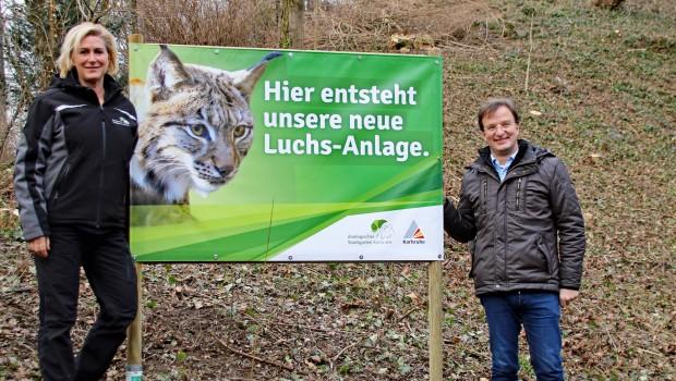 Zoo Karlsruhe neue Luchsanlage 2017 Baubeginn
