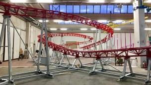 Drachenwirbel Freizeitpark Plohn Schienenlackierung Bauarbeiten
