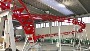 Drachenwirbel Freizeitpark Plohn Schienenlackierung Baustelle