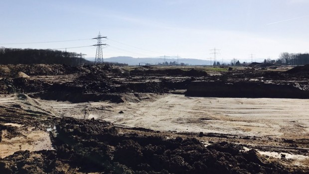 Baustelle von Wasserpark des Europa-Park