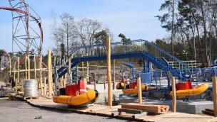 Baustelle von The Beach im Holiday Park