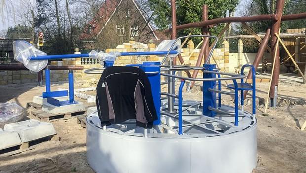 Jaderpark Baustelle barrierefreier Spielplatz