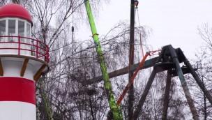 """Loke""-Baustelle im Blick: Aufbau von neuer Schwing-Gondel in Liseberg hat begonnen"