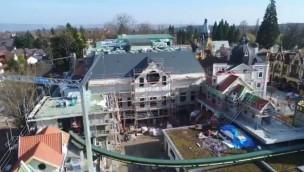 """""""Project V""""-Baustelle im Blick: Fassaden- und Innenarbeiten an neuem Flying-Theater im Europa-Park schreiten voran"""