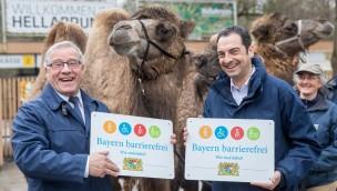 """Münchner Tierpark Hellabrunn erhält Signet """"Bayern barrierefrei – Wir sind dabei!"""": Engagement für Barrierefreiheit"""