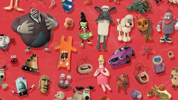 Aardman Animations Charakter Collage