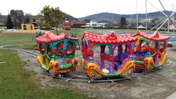 Churpfalzpark neue Attraktion 2017 Kinder Zugfahrt