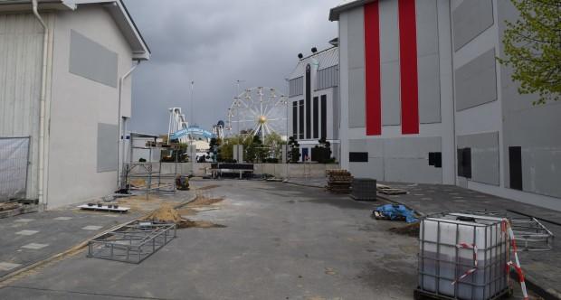 """Federation Plaza""-Baustelle neben ""Star Trek: Operation Enterprise"" im Movie Park 2017"
