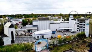 """""""Star Trek""""-Baustelle im Blick: Gestaltung rund um neue Katapult-Achterbahn im Movie Park Germany geht in finale Phase"""