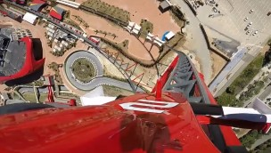 """""""Red Force"""" OnRide-Video zeigt Europas neue höchste und schnellste Achterbahn im Ferrari Land aus der Mitfahr-Perspektive"""