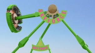 """Flambards kündigt """"Sky-Force"""" an: Frisbee-Fahrgeschäft soll im Sommer 2017 eröffnen"""