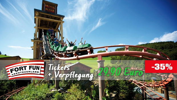 Günstige Fort Fun Tickets Hot Dog Angebot 2017
