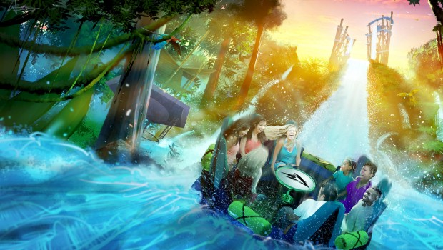 Infinity Falls Abfahrt SeaWorld Orlando Abfahrt
