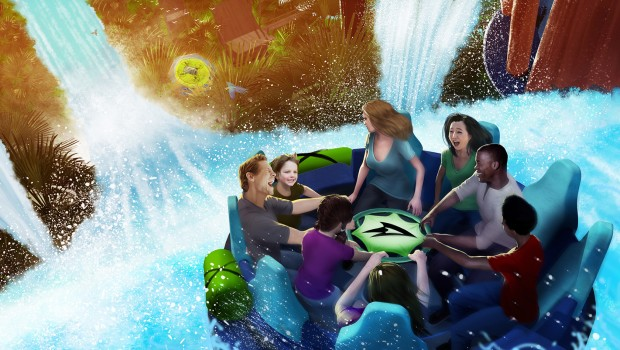 Infinity Falls Sea World Orlando Boote Artwork