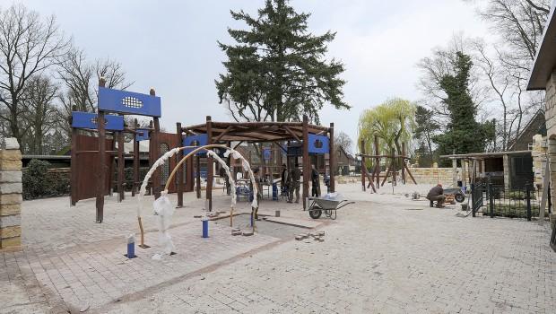 Jaderpark Barrierefreier Spielplatz Baustelle 2017