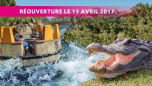 """Alligator Park"" in Le Pal eröffnet zum Saisonstart am 15. April 2017"