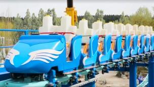 """Neue Achterbahn in Parc Astérix macht Testfahrten: So fährt """"Pégase Express"""""""