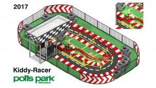 """potts park Minden startet mit Neuheit """"Kiddy-Racer"""" in die Saison 2017: Mini-Achterbahn ab 8. April in Betrieb"""