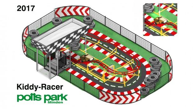 potts park Neuheit 2017 Kiddy Racer