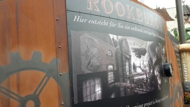 Rookburgh Banner Phantasialand Race for Atlantis Baustelle 2017