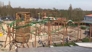"""""""Eine Reise durch das Mittelalter""""-Baustelle im Blick: Neue Achterbahn in Schloss Dankern kurz vor Schienenschluss"""