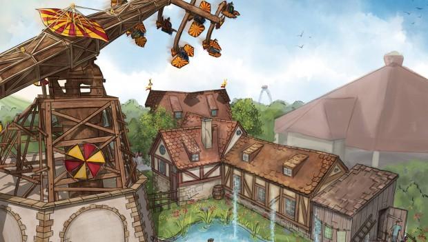 Erlebnispark Tripsdrill Artwork Höhenflug