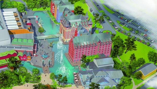 Europa-Park Wasserpark Hotels Artwork